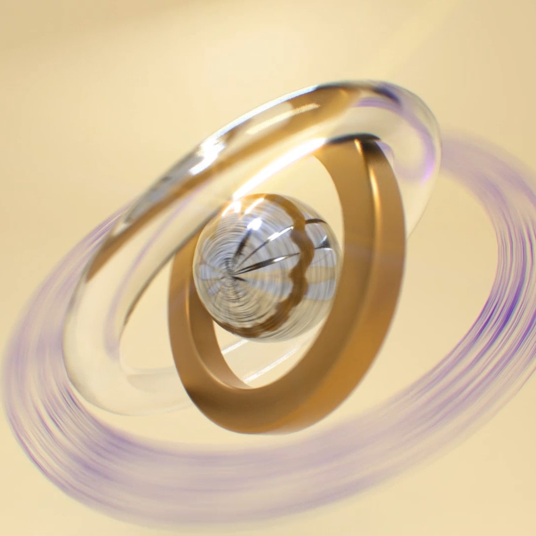 Rotating Abstract 3D Render Object CGI