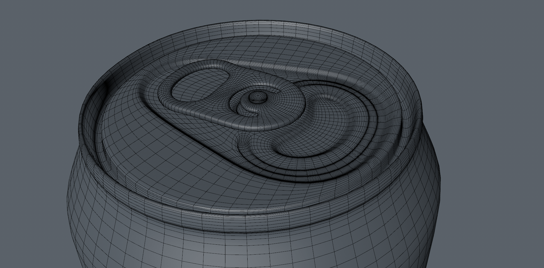 3D Product Animation Spinning Towards Camera Wireframe